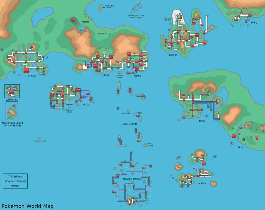 Pokemon World Map | VoVatia
